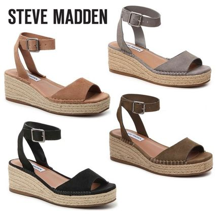 f13b3bacb6d Steve Madden 2017 SS Casual Style Suede Plain Platform   Wedge Sandals by  hidamichi - BUYMA