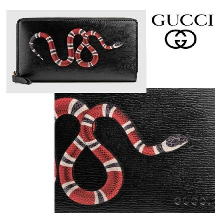 GUCCI Other Animal Patterns Leather Long Wallets