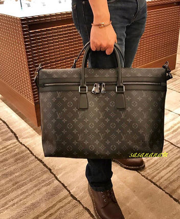 Louis Vuitton MONOGRAM Unisex A4 2WAY Leather Business & Briefcases