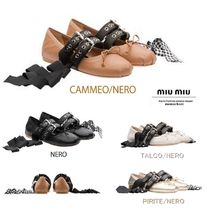 MiuMiu Leather Ballet Shoes