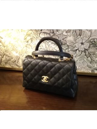 CHANEL ICON 2WAY Plain Leather Elegant Style Handbags
