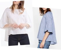 ZARA Linen Plain Medium Shirts & Blouses