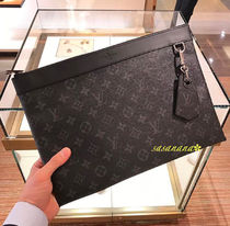 Louis Vuitton MONOGRAM Unisex Bag in Bag A4 Leather Clutches