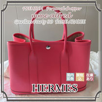 HERMES Garden Party Plain Leather Bags