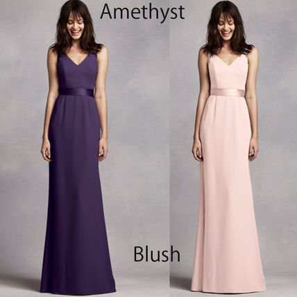 Vera Wang Plain Long Party Dresses