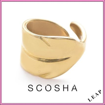Casual Style Handmade Brass Rings