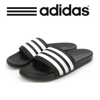 8a43a3ef9 adidas ADILETTE 2017 SS Stripes Faux Fur Shower Shoes Shower Sandals by  1PRO - BUYMA