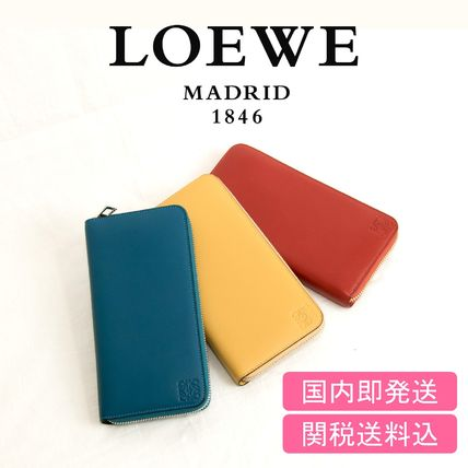 The finest leather use round zip long wallet