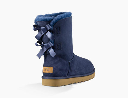 UGG Australia Ankle & Booties Round Toe Rubber Sole Casual Style Sheepskin Blended Fabrics 2