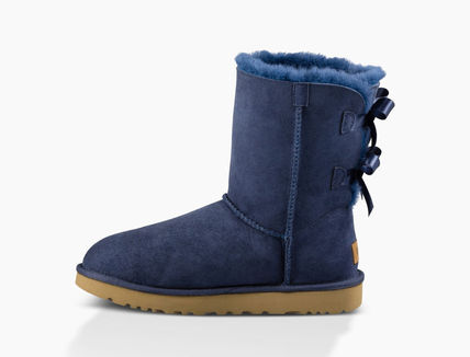 UGG Australia Ankle & Booties Round Toe Rubber Sole Casual Style Sheepskin Blended Fabrics 4