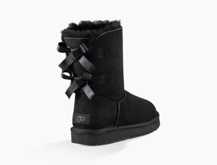 UGG Australia Ankle & Booties Round Toe Rubber Sole Casual Style Sheepskin Blended Fabrics 6
