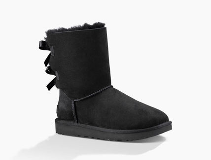 UGG Australia Ankle & Booties Round Toe Rubber Sole Casual Style Sheepskin Blended Fabrics 7