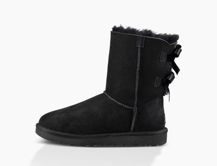 UGG Australia Ankle & Booties Round Toe Rubber Sole Casual Style Sheepskin Blended Fabrics 8