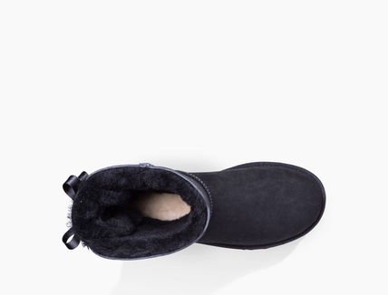 UGG Australia Ankle & Booties Round Toe Rubber Sole Casual Style Sheepskin Blended Fabrics 9