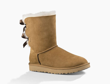 UGG Australia Ankle & Booties Round Toe Rubber Sole Casual Style Sheepskin Blended Fabrics 12