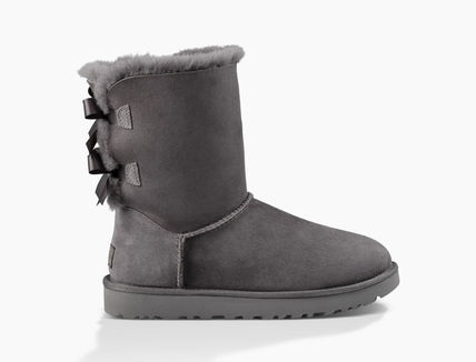 UGG Australia Ankle & Booties Round Toe Rubber Sole Casual Style Sheepskin Blended Fabrics 15