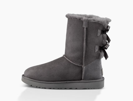 UGG Australia Ankle & Booties Round Toe Rubber Sole Casual Style Sheepskin Blended Fabrics 16