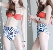 Zebra Patterns Halter Swimwear
