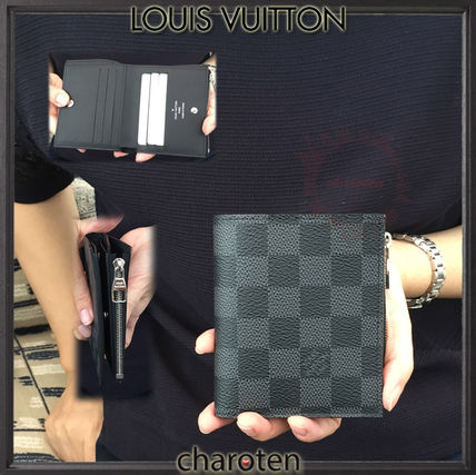 0dd5003e1e10 Louis Vuitton Folding Wallets Other Check Patterns Unisex Canvas Folding  Wallets