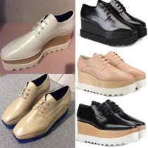 Stella McCartney ELYSE Platform Plain Toe Lace-up Casual Style Faux Fur Plain Shoes
