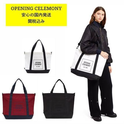 OPENING CEREMONY Casual Style Unisex Cambus Bag in Bag A4 Plain Totes