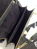 FENDI KAN I Chain Shoulder Bag / Black