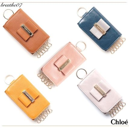SEE BY 6 Leather key case with key ring