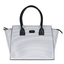 Paul's Boutique Stripes Street Style A4 2WAY Office Style Totes