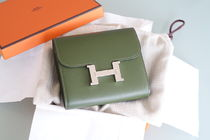 HERMES CONSTANCE Plain Leather Coin Cases