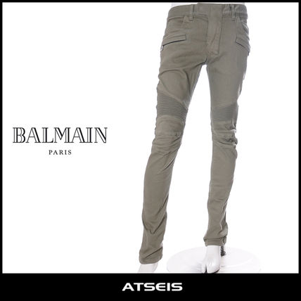 BALMAIN More Jeans Tapered Pants Street Style Plain Cotton Jeans