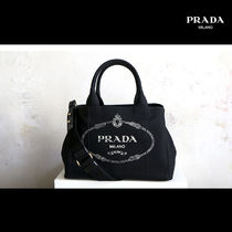 PRADA CANAPA Unisex Canvas 2WAY Totes