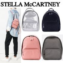 Stella McCartney FALABELLA Casual Style Faux Fur 2WAY Chain Plain Backpacks