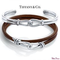 Tiffany & Co Bangles Blended Fabrics Bi-color Plain Silver Bracelets