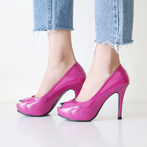 Open Toe Enamel Pin Heels Stiletto Pumps & Mules