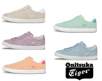Onitsuka Tiger Round Toe Rubber Sole Lace-up Casual Style Street Style