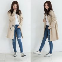 Casual Style Long Oversized Parkas