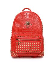 BOY LONDON Casual Style Faux Fur Studded A4 Backpacks