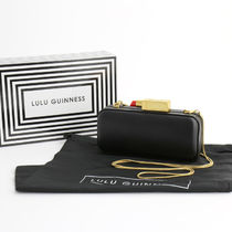 Lulu Guinness Plain Leather Elegant Style Clutches