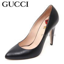GUCCI Plain Leather High Heel Pumps & Mules
