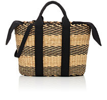 MUUN Canvas A4 2WAY Bi-color Straw Bags