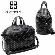 GIVENCHY NIGHTINGALE Lambskin Street Style A4 Boston Bags