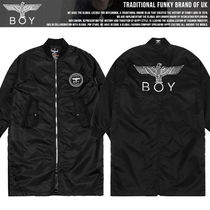 BOY LONDON Studded Long MA-1 Bomber Jackets