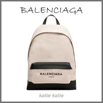 BALENCIAGA CABAS Off-White/Black Navy Backpack