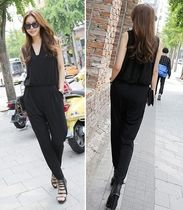Dungarees Sleeveless Plain Party Style Dresses