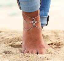 Casual Style Cross Chain Anklets