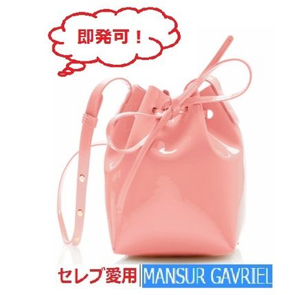 MANSUR GAVRIEL 2WAY Plain Leather Elegant Style Shoulder Bags