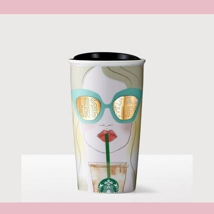LA STARBUCKS US here only Starbucks ceramic travel mug