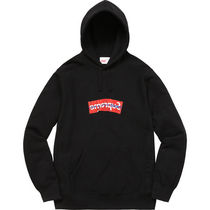 Supreme Street Style Collaboration Long Sleeves Plain Cotton Hoodies