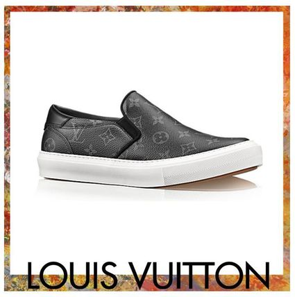 Louis Vuitton Monoglam Plain Toe Loafers & Slip-ons
