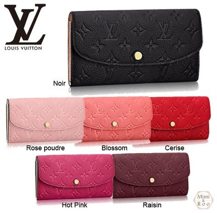 Louis Vuitton PORTEFEUILLE EMILIE Monoglam Leather Long Wallets